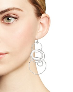 IPPOLITA - Sterling Silver Glamazon® Large Link Jet Set Earrings