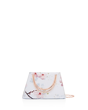 Ted Baker Oriental Blossom Metal Handle Clutch