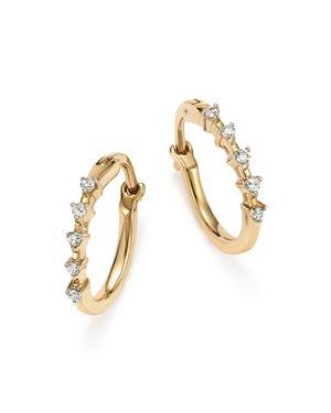 Adina Reyter 14K Yellow Gold 5-Diamond Huggie Hoop Earrings