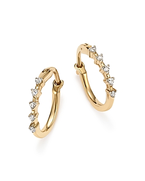 Adina Reyter 14K Yellow Gold 5-Diamond Huggie Hoop Earrings