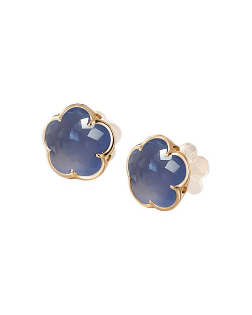 Pasquale Bruni - 18K Rose Gold Chalcedony Floral Stud Earrings