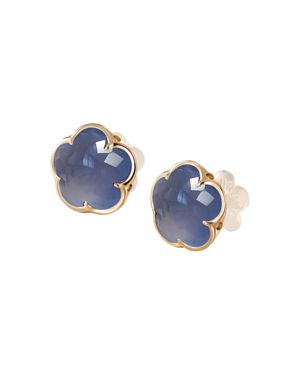 Pasquale Bruni 18K Rose Gold Chalcedony Floral Stud Earrings