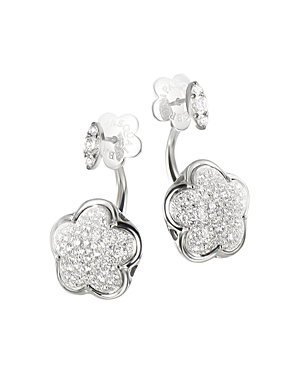 Click here for Pasquale Bruni 18K White Gold Diamond Floral Earri... prices