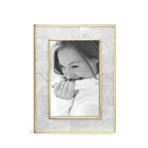 Reed & Barton Mother-of-Pearl Gold Frame, 4 x 6