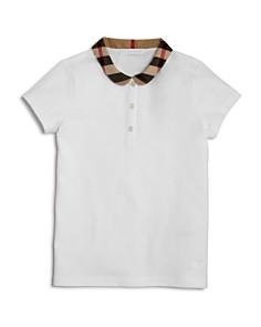 Burberry Girls' Check Collar Polo - Little Kid, Big Kid - Bloomingdale's_0