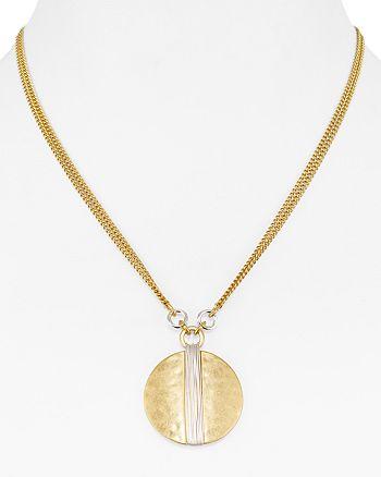"Robert Lee Morris Soho - Wire Wrap Pendant Necklace, 16"""