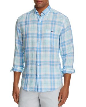 Vineyard Vines Upper Bluff Plaid Tucker Classic Fit Button-Down Shirt