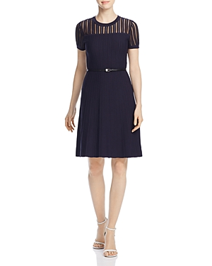 Calvin Klein Belted Sweater Dress