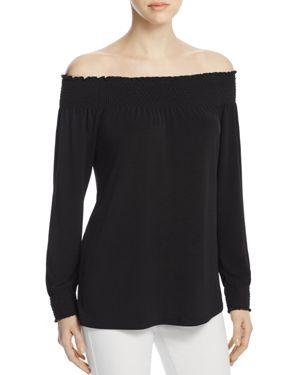 Calvin Klein Smocked Off-the-Shoulder Top
