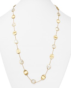 """Marco Bicego - 18K Yellow Gold Lunaria Mother-of-Pearl Long Necklace, 36"""""""