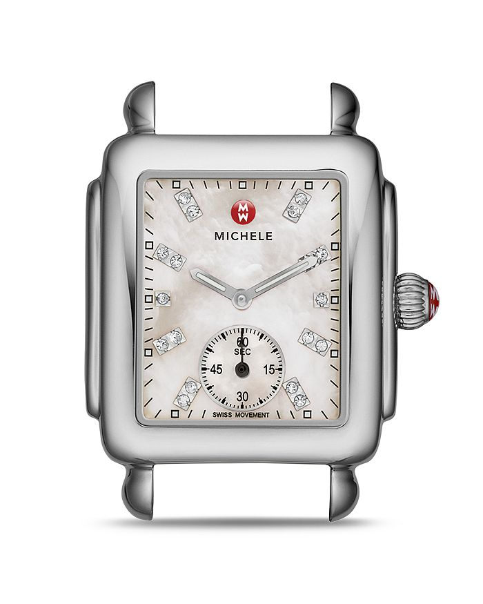MICHELE - Deco Dial Diamond Watch Head, 29 x 31mm