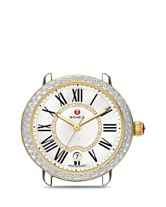 MICHELE - Serein 16 Two Tone Diamond Dial Watch Head, 36 x 34mm