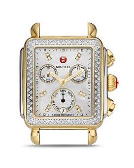 MICHELE - Deco Diamond Watch Head, 33mm x 35mm