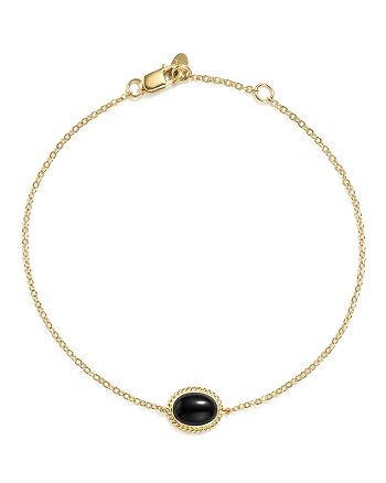 Bloomingdale's - Onyx Oval Bracelet in 14K Yellow Gold - 100% Exclusive