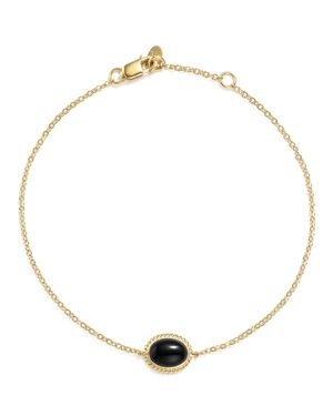 Onyx Oval Bracelet in 14K Yellow Gold - 100% Exclusive