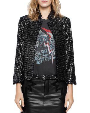 Zadig & Voltaire Volly Sequin Deluxe Jacket