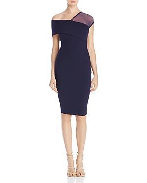 Nookie Asymmetric Neckline Cocktail Dress