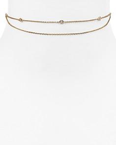 "Jules Smith - Crimson Chain Choker Necklace, 12"""