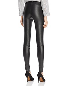 Alice and Olivia - Zip Front Leather Leggings
