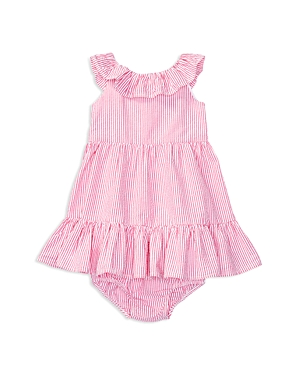 Ralph Lauren Childrenswear Girls' Seersucker Ruffle Dress & Bloomers Set - Baby