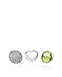 PANDORA Sterling Silver, Peridot & Cubic Zirconia August Petites Charms, Set of 3 - Bloomingdale's_0