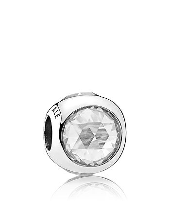 PANDORA - Sterling Silver & Cubic Zirconia Radiant Droplet Clear Charm