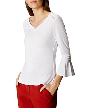 Karen Millen Flare-Sleeve Top