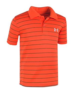Under Armour Boys' Striped Polo - Little Kid