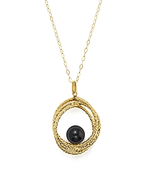 Onyx Crossover Sphere Pendant Necklace in 14K Yellow Gold, 18 - 100% Exclusive