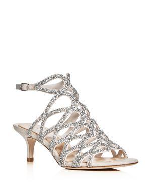 Imagine Vince Camuto Kami Crystal Embellished Caged Low Heel Sandals
