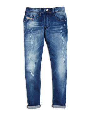Diesel Boys' Darron Regular Slim Fit Jeans - Big Kid thumbnail