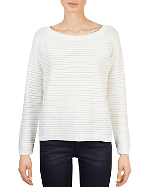 Gerard Darel Aidan Sheer Stripe Pullover Sweater