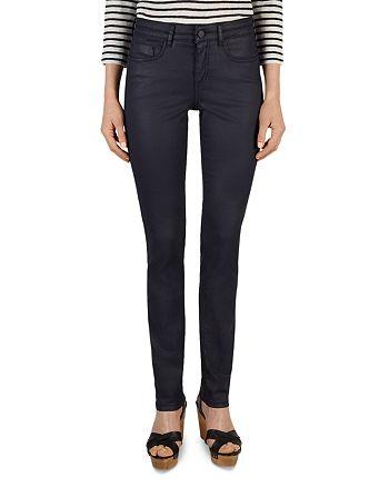 e3a49b4f028c Gerard Darel - Pixie Coated Straight-Leg Jeans in Blue