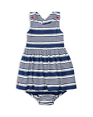 Ralph Lauren Childrenswear Girls' Striped Dress & Bloomers Set - Baby