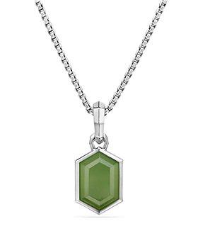 David Yurman - Hexagon Cut Amulet with Nephrite Jade