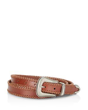 Rebecca Minkoff Whipstitch Edge Leather Belt 2580677