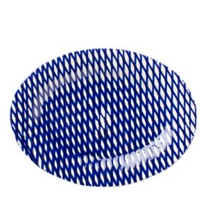 Vietri Net & Stripe Net Medium Oval Platter