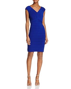 Adrianna Papell V-Neck Banded Dress