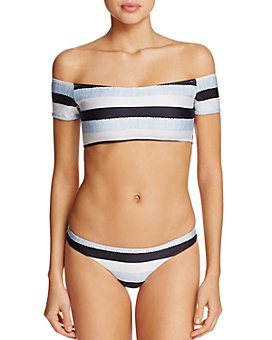 ViX - Sea Glass Off-the-Shoulder Bikini Top & Sea Glass Bikini Bottom