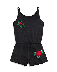 So Nikki... Girls' Embroidered Rose Romper - Big Kid - Bloomingdale's_0