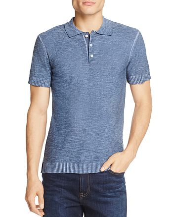 7 For All Mankind - Lightweight Slim Fit Polo Sweater