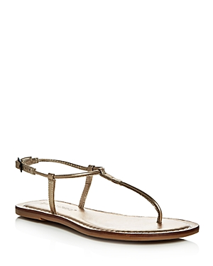 Bernardo Lilly Metallic T-Strap Thong Sandals