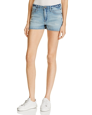 Calvin Klein Jeans Sculpted Denim Shorts in Nebula Blue