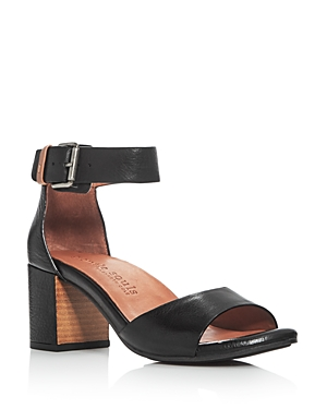 Gentle Souls Christa Leather Ankle Strap Block Heel Sandals