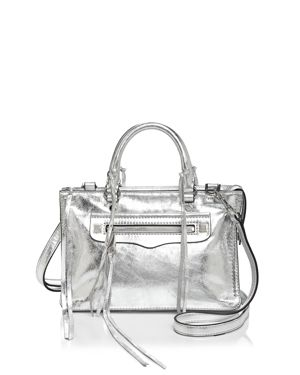 Rebecca Minkoff Regan Metallic Micro Leather Satchel