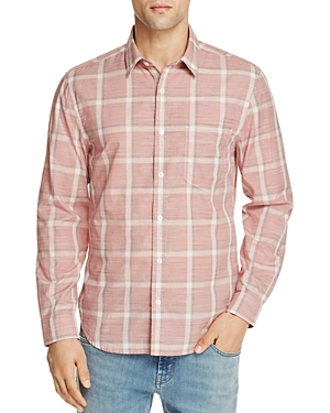 7 For All Mankind Washed-Out Plaid Regular Fit Button-Down Shirt
