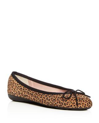 PAUL MAYER Bingo Brighton Leopard Print Ballet Flats in Tan Leopard
