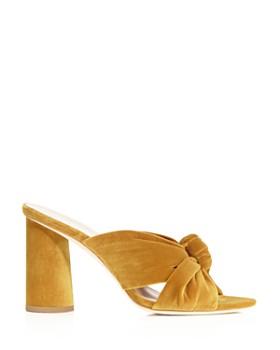 Loeffler Randall - Women's Coco Velvet High-Heel Slide Sandals