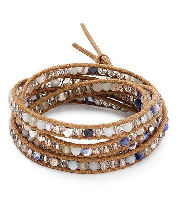 Chan Luu - Mixed Stone Wrap Bracelet
