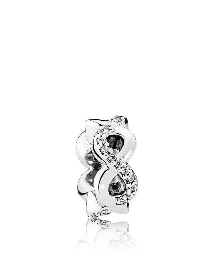 PANDORA - Sterling Silver & Cubic Zirconia Infinite Love Spacer
